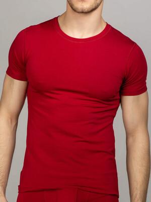 Men's round neck t-shirt maroon