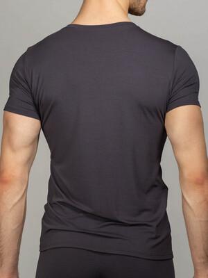 Мужская футболка серая V-вырез