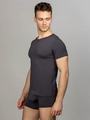 Gray men's underwear set round neck t-shirt and briefs