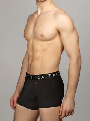 Мужские боксеры черные, фирменная резинка, светлый логотип