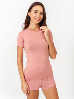 Женская футболка TACTILICA пыльная роза