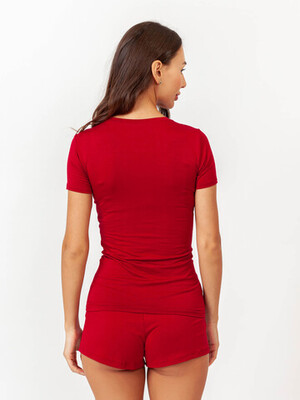 Женская футболка TACTILICA бордовая