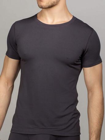 Мужская футболка серая круглый вырез